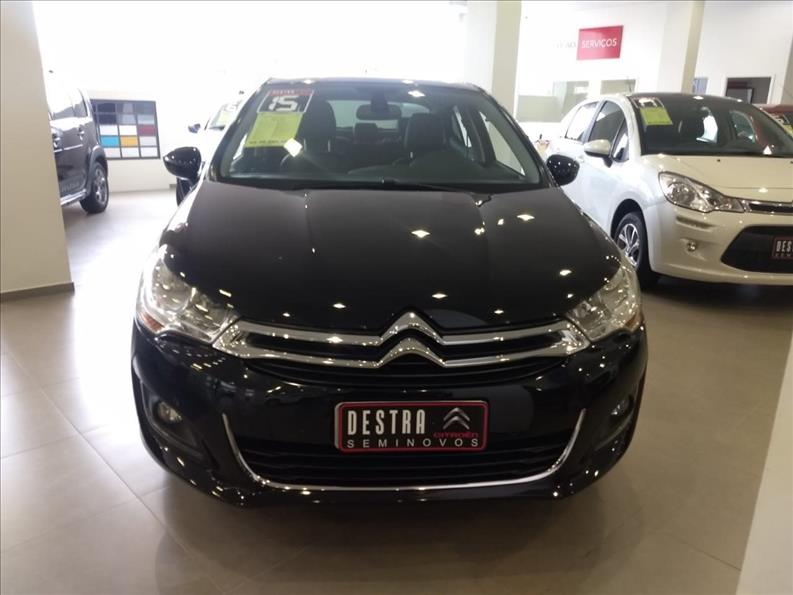 CITROËN C4 LOUNGE 1.6 Exclusive 16V Turbo 2014/2015 Preto