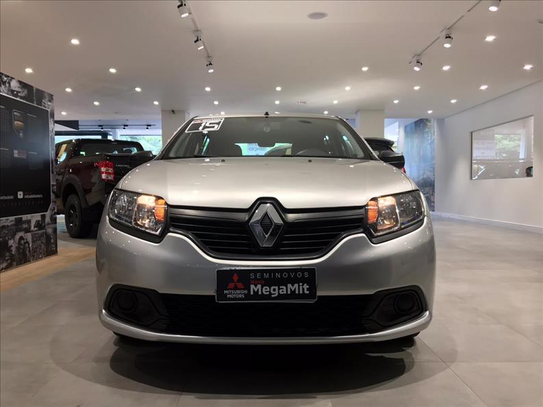 RENAULT SANDERO 1.0 Authentique 16V 2014/2015 Prata