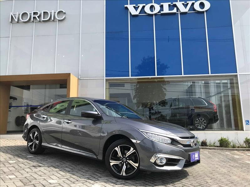 HONDA CIVIC 1.5 16V Turbo Touring 2016/2017 Cinza