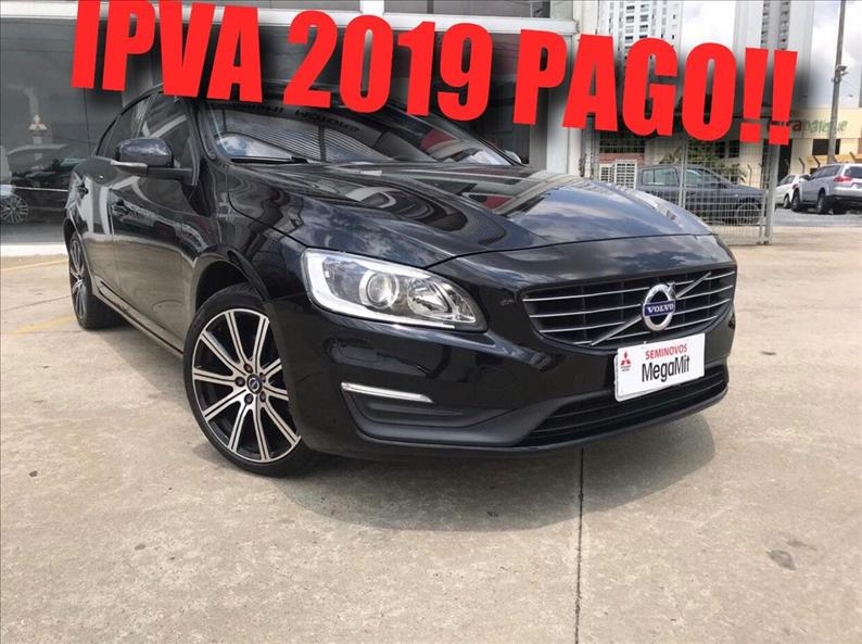 VOLVO S60 2.0 T5 Kinetic 16V Turbo 2015/2016 Preto