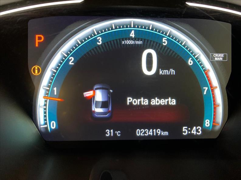 CIVIC   1.5 16V Turbo Touring  -      2019/2019   23000 km -      Gasolina   Preto