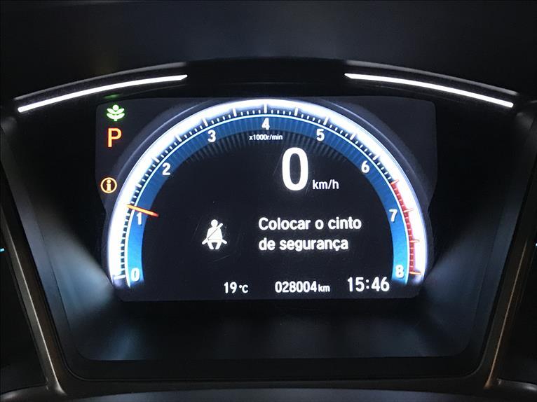 CIVIC   1.5 16V Turbo Touring  -      2019/2020 | 28005 km -      Gasolina | Preto
